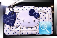 portafoglio hello kitty navy blu