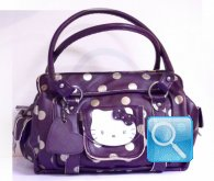 borsa hello kitty prugna