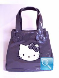 borsa hello kitty tote bag grey