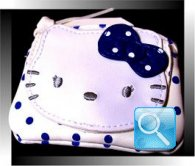 portamonete hello kitty bianco blu
