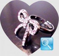 anello camomilla strass rosa