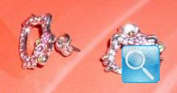 Orecchini Hello Kitty con strass e rose originali