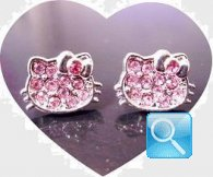 orecchini hello kitty strass rosa