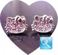 orecchini hello kitty icon strass