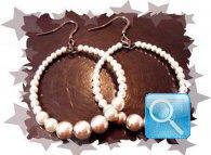 orecchini camomilla perle bianche