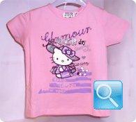 maglia hello kitty rosa 6 anni
