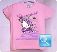 maglia hello kitty rosa 7 anni