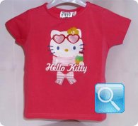 maglia hello kitty rossa icon 7 anni