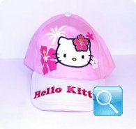 cappello hello kitty rosa/bianco cappellino