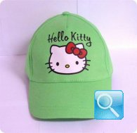 cappello hello kitty verde cappellino