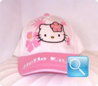 cappello hello kitty bianco /rosa cappellino