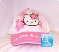 cappello hello kitty bianco /rosa cappellino