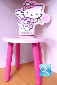 sedia hello kitty in legno