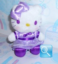 peluches hello kitty viola con gonnellina 13x10