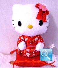 peluches hello kitty con kimono e cuscino 14x9