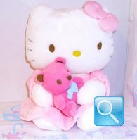 peluches hello kitty con orsetto 30x20