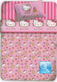 lenzuola hello kitty matrimoniale