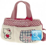borsa hello kitty flat bag i love you pink