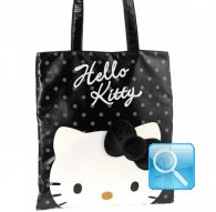 borsa flat shopper city hello kitty black
