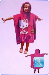 poncho hello kitty fuxia