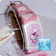 orologio hello kitty graffiti rosa rosa