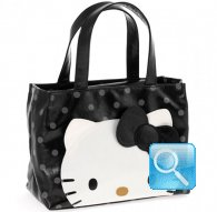 borsa handbag city hello kitty black