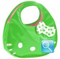 borsa hello kitty icon bag L verde
