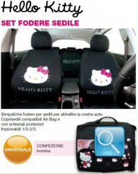 Set foderine coprisedili hello kitty