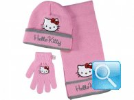 guanti berretto sciarpa hello kitty rosa