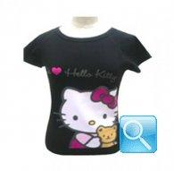 maglia hello kitty t-shirt nera 4-5 anni