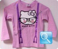 maglia hello kitty t-shirt  lilla manica lunga 6 anni