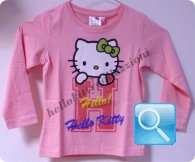 maglia hello kitty t-shirt rosa manica lunga 10 anni