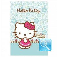 maxi quaderno hello kitty 5mm azzurro