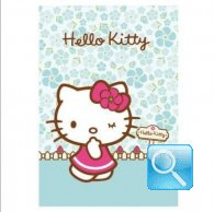 maxi quaderno hello kitty 10mm azzurro