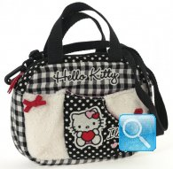 borsa hello kitty mini boston i love you black