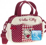borsa hello kitty mini boston i love you red