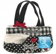 borsa hello kitty mini flat bag i love you black