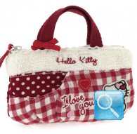 borsa hello kitty mini flat bag i love you red