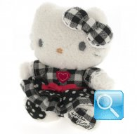 pupazzo hello kitty mini plush i love you black