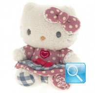 pupazzo hello kitty mini plush i love you pink