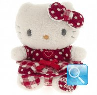 pupazzo hello kitty mini plush i love you red