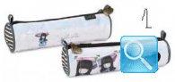 astuccio mini tombolino gorjuss stripes azzurro chiaro collezione 2013