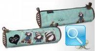 astuccio mini tombolino gorjuss stripes azzurro collezione 2013