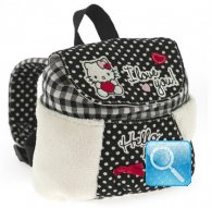zainetto hello kitty mini i love you black