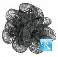 molletta -spilla camomilla daisy black