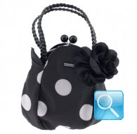 mp3-mobile case black w-white dots