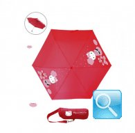 Ombrello hello kitty pieghevole w-custodia lotus red
