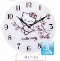 orologio hello kitty da parete in cristallo flower novita' 2013