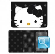 passport case city hello kitty black