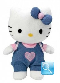 peluche hello kitty  jeans 